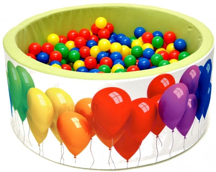 NELLYS Bazén pre deti 90x40cm kruhový tvar + 200 balónikov - zelený s balónky, Ce19