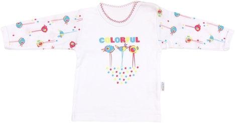Mamatti Bavlnené tričko Bird - dlhý rukáv, roz. 98-98 (24-36m)