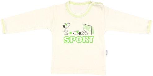 Bavlnené tričko Dog - dlhý rukáv, vel. 86