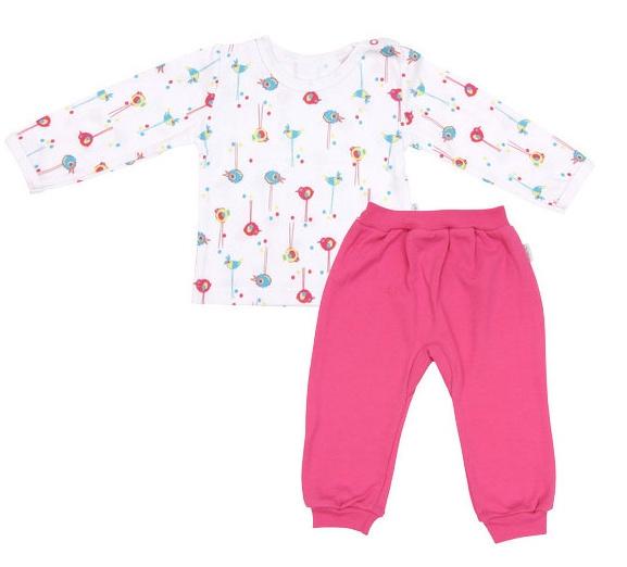 Bavlnené pyžamko Bird-74 (6-9m)