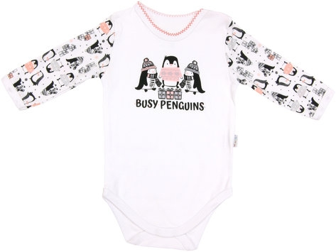 Dojčenské body Penguin - dlhý rukáv, roz. 98-98 (24-36m)