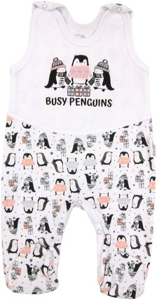 Dojčenské bavlnené dupačky Penguin, roz. 80-80 (9-12m)