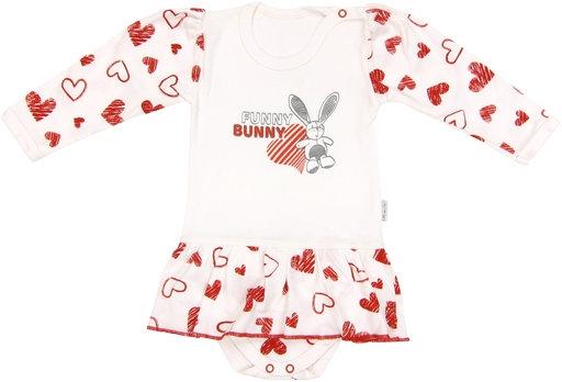 Bavlnené sukničkobody Heart - dlhý rukáv, roz. 80-80 (9-12m)