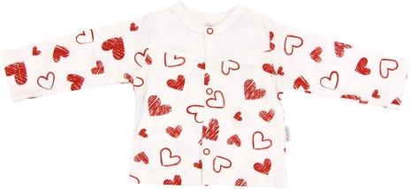 Bavlnená košieľka Heart, roz. 80-80 (9-12m)