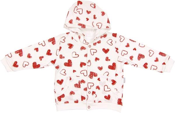 Mikinka s kapucňou Heart-62 (2-3m)