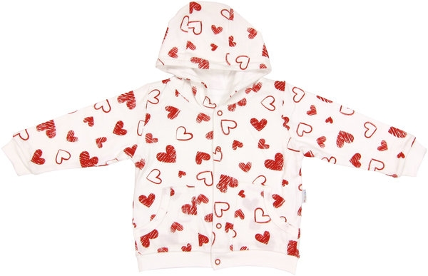 Mamatti Mikinka s kapucňou Heart, roz. 92-92 (18-24m)