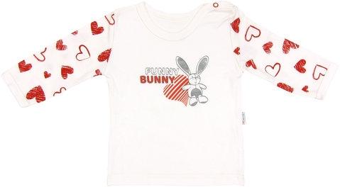 Bavlnené tričko Heart - dlhý rukáv, roz. 80-80 (9-12m)