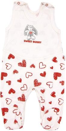 Dojčenské bavlnené dupačky Heart, roz. 62-62 (2-3m)