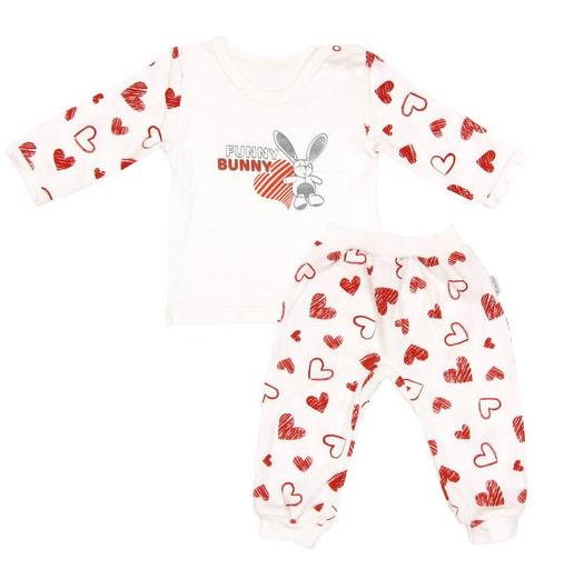 Mamatti Bavlnené pyžamko Heart, veľ. 74