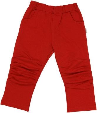 Mamatti Bavlněné tepláčky, kalhoty Arrow - červené, vel. 80-80 (9-12m)