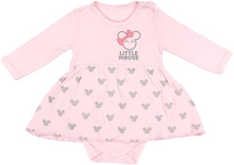 Bavlnené sukničkobody Little mouse - dlhý rukáv, roz. 80-80 (9-12m)