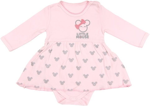 Bavlnené sukničkobody Little mouse - dlhý rukáv, roz. 86-86 (12-18m)