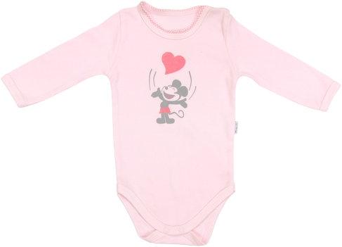 Dojčenské body Little mouse - dlhý rukáv, roz. 98