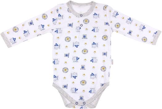 Dojčenské body/polo Four - dlhý rukáv, veľ. 80