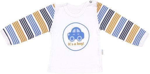 Mamatti Bavlnené tričko Boy - dlhý rukáv-74 (6-9m)