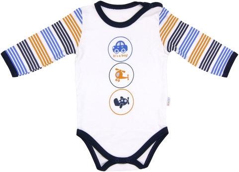Dojčenské body Boy - dlhý rukáv, veľ. 92-92 (18-24m)