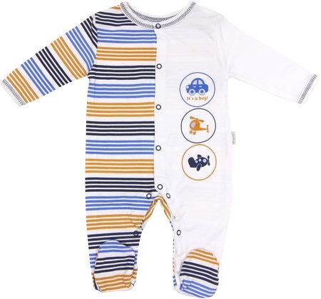 Dojčenský bavlnený overal Boy, veľ. 68-68 (4-6m)
