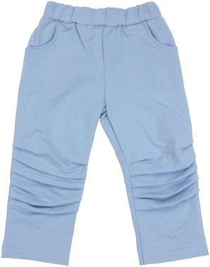 Mamatti Bavlnené tepláčky, kalhoty Boy - modré-74 (6-9m)