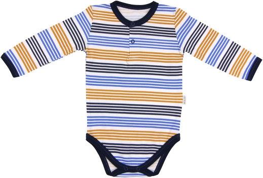 Dojčenské body/polo Boy - dlhý rukáv-68 (4-6m)