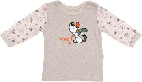 Bavlnené tričko Pet´s - dlhý rukáv, veľ. 86