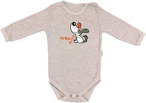 Dojčenské body Pet´s - dlhý rukáv, veľ. 80-80 (9-12m)