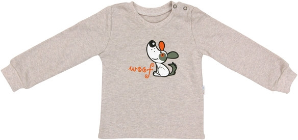 Bavlnené tričko Pet´s - béžové, vel. 80-80 (9-12m)