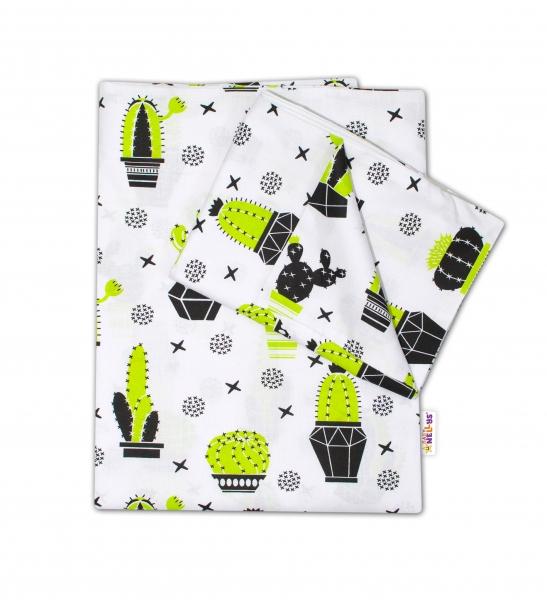 Baby Nellys 2-dielné s obliečkami - Kaktus, 135x100 cm