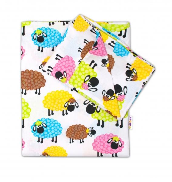 Baby Nellys 2-dielné s obliečkami - Farebné ovečky , 135x100 cm