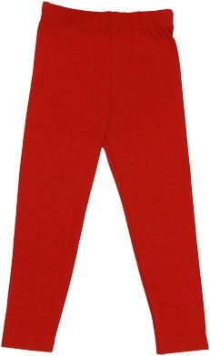 Bavlnené jednofarebné legíny - červené, veľ. 104