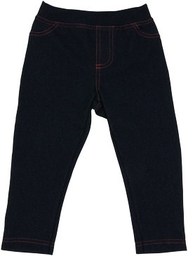 Detské bavlnené jednofarebné legíny - jeans, veľ. 92