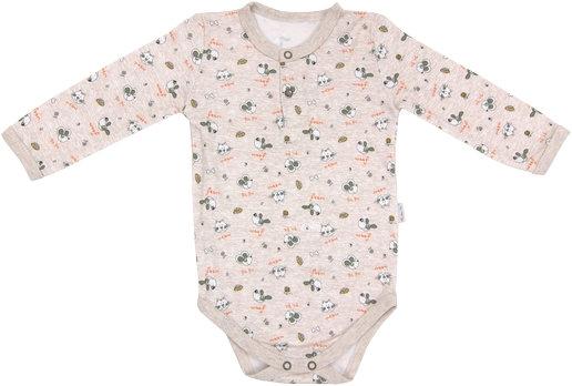 Dojčenské body/polo Pet´s - dlhý rukáv, veľ. 80-80 (9-12m)