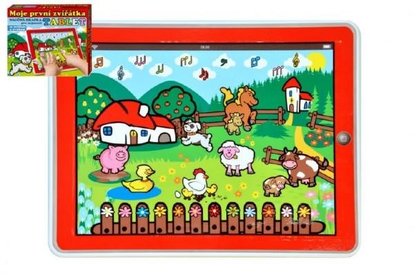 Tablet farma pre najmenších Moje prvé zvieratká 24x19x1,5cm na batérie v krabičke MPZ