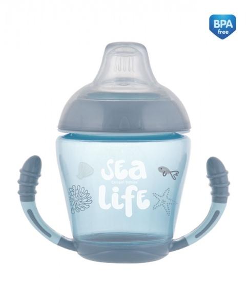 Canpol babies Nevylévací hrnček Sea Life - modrá