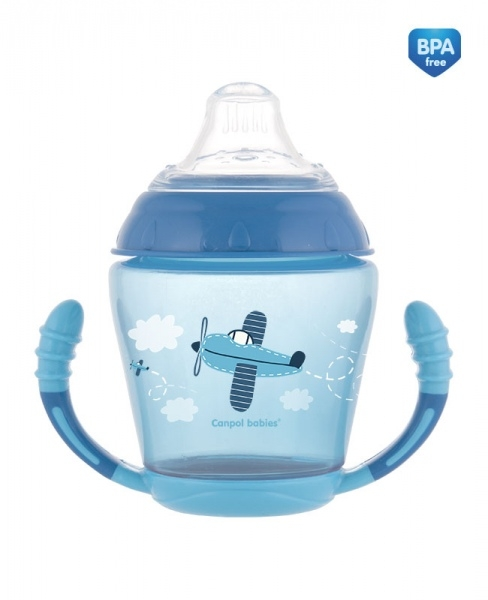 Canpol babies Nevylévací hrnček Toys - modrá