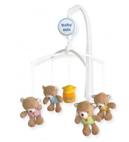 BABY MIX Kolotoč nad postieľku  - Medvedíky s medom