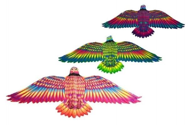 Teddies Drak lietajúci Orol 132x59cm asst 3 farby v sáčku