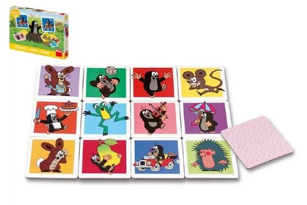 Veľké Krtkova pexeso Krtko spoločenská hra v krabici 27x19x4cm 2+