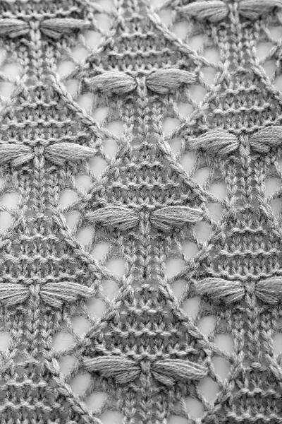 Elegantné tehotenské pončo ažurkové - sv. šedé