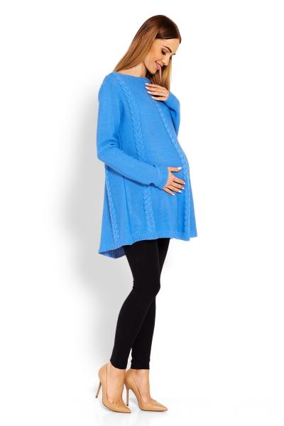 Elegantný tehotenský pulóver / tunika - jeans