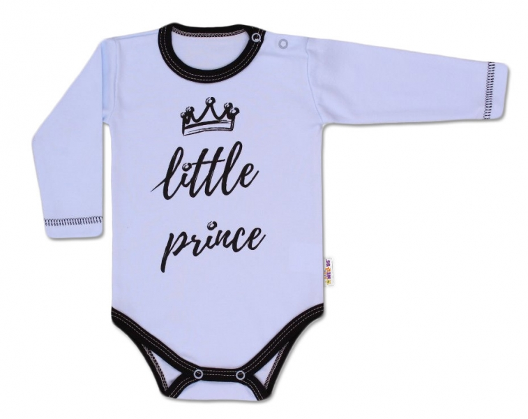 Baby Nellys Body dlhý rukáv, Little Prince - modré, veľ. 80