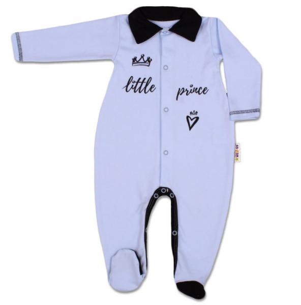 Baby Nellys Bavlnený overal Little Prince - modrý, veľ. 74
