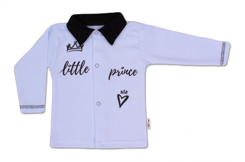 Baby Nellys Bavlnená košieľka Little Prince - modrá, veľ. 74