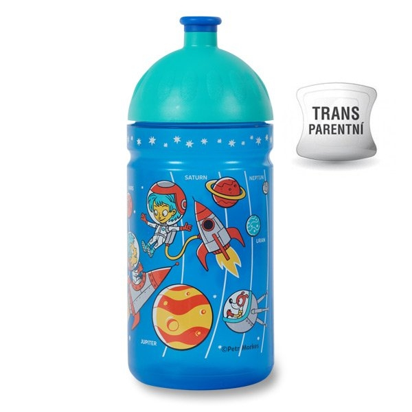 Zdravá fľaša - 0.5l - Vesmír, modrá