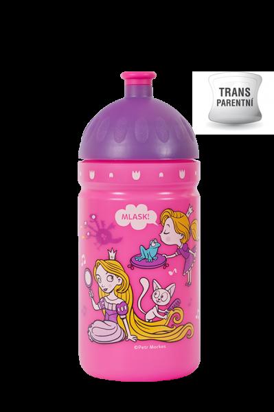 Zdravá fľaša - 0.5l - Svet princezien, růžová