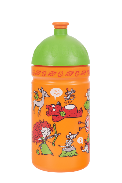 Zdravá fľaša - 0.5l - Rebelka, oranžová