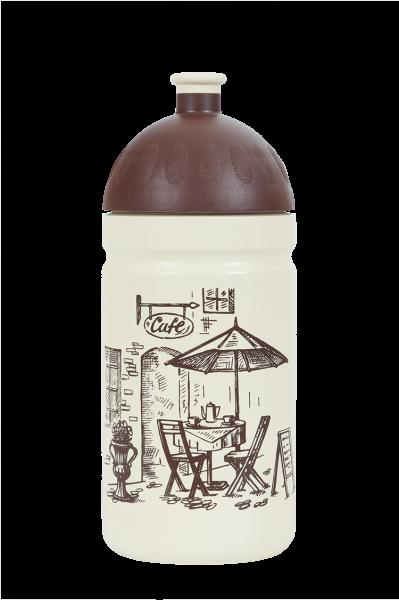 Zdravá fľaša - 0.5l - Káva, biela
