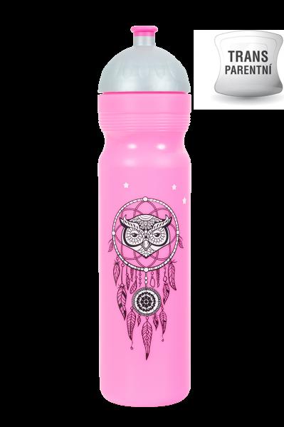 Zdravá fľaša - 1 l - Lapač snů - růžová