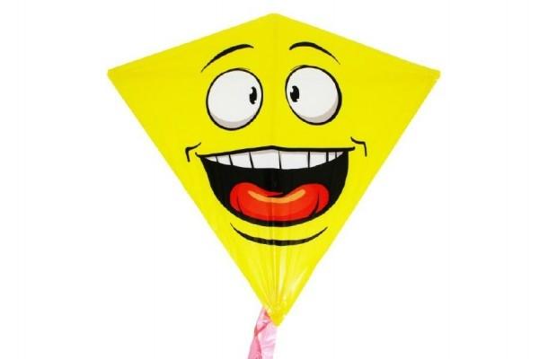 Teddies Drak lietajúci smajlík plast 68x73cm v sáčku
