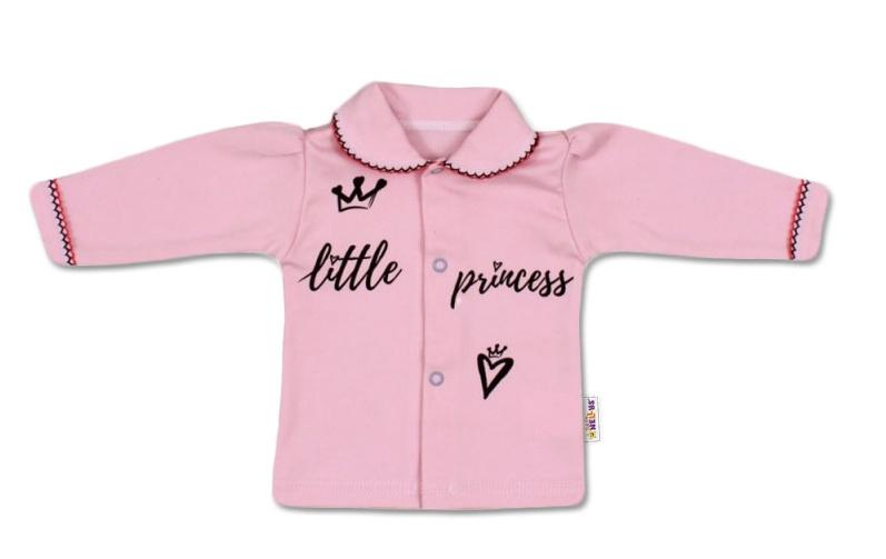 Baby Nellys Bavlnená košieľka Little Princess - růžová-56 (1-2m)