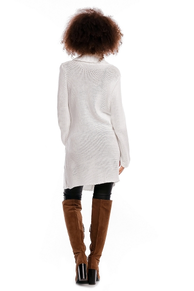 Tehotenský kardigan - biely, zapínanie na gombík